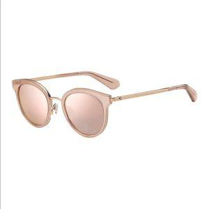 Kate Spade 'Lisannefs' Round Mirrored Sunglasses